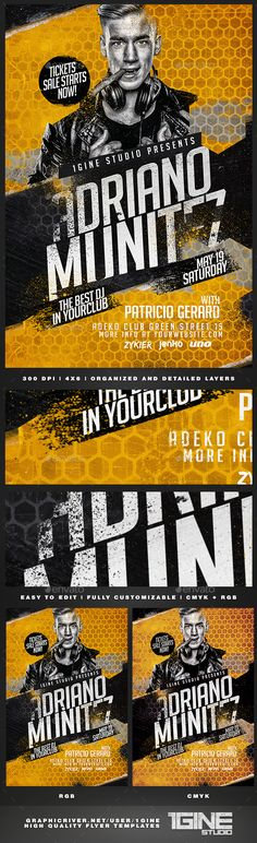 Club Flyer  Psd Templates Flyer Template And Graphics