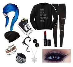 """""Scene"" Kid"" by sheameow on Polyvore featuring River Island, Free People, Converse, NYX, emo, scene and alternative"
