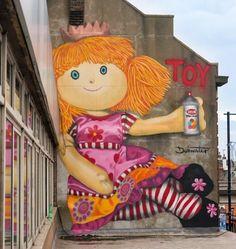Street Art • Dot Masters  Found in Croydon London #art #mural #graffiti #streetart