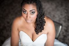 beautiful natural hair style! vintage glam. memphis wedding. amy hutchinson photography