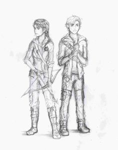 Hunger games fan art Katniss and Peeta
