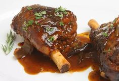 Plum and Rosemary Lamb Shanks Recipe