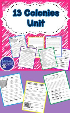 This unit includes:  • Vocabulary terms • A nonfiction packet on the 3 early settlements (New France, New Spain and the New Netherlands) • A nonfiction packet on the 13 colonies of America → Comprehension questions to assess student understanding of the m
