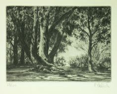 Vintage Carol Collette Original Aquatint Etching by SixtiesBoy, $98.00