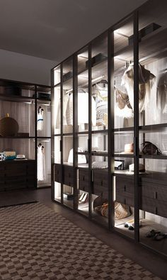 Fantastic luxury closets for your Master Bedroom. Walk In Closet Design, Bedroom Closet Design, Closet Designs, Interior Design Living Room, Bedroom Decor, Dressing Room Closet, Dressing Room Design, Dressing Rooms, Modern Closet