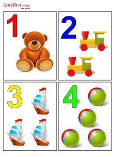 Развивающие цифры в картинках для детей Preschool Body Theme, Numbers Preschool, Learning Numbers, Preschool Curriculum, Preschool Math, Preschool Worksheets, Kindergarten Classroom, Number Flashcards, Flashcards For Kids