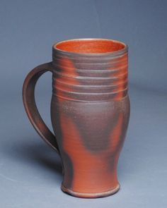 Clay Coffee Mug Beer Stein Wood Fired F48 by JohnMcCoyPottery on Etsy