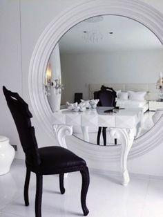 ronde spiegel kaptafel
