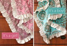 Use the satin from your wedding gown to add to a baby blanket!