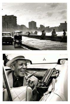 El Malecón de La Habana, Compay Segundo.   Fotos tomadas por ©Wim Wenders durante su visita a Cuba, para 1999