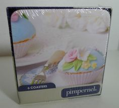 sealed cupcake coasters Royal Delights Pimpernel box of 6 different showers tea