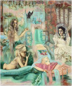 Emma Ainala-Farewell to Mermaids(Polttarit) Define Art, Art Inspo, Contemporary Art, Art Gallery, Mermaids, Artworks, Paintings, Traditional, Fictional Characters
