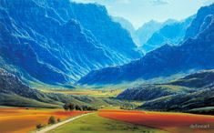 """""""Hex River Valley - South Africa"""" by defineart 