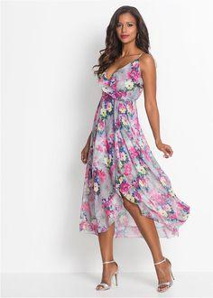 49ab168f70 Sukienka w kwiaty jasnoszaro-jasnoróżowo-żółty w kwiaty • 149.99 zł •  bonprix