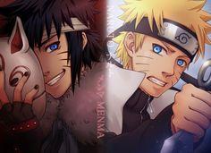 Menma and Naruto