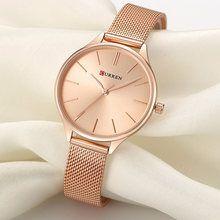 3e7ce36f8 R$ 47.86 93% de desconto|CURREN Relógio de Ouro das Mulheres Relógios  Senhoras relógio de Aço Criativo Mulheres Pulseira Relógios Relógio  Feminino Relogio ...