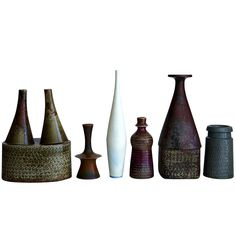 Six Vases by Stig Lindberg   From a unique collection of antique and modern vases at https://www.1stdibs.com/furniture/dining-entertaining/vases/