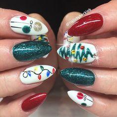 lovely christmas nail art