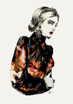 Fashion illustration of Dolce's FW13 by Connie Lim and Marcus Kan - Swide