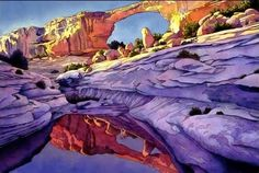 "From the Beginning, 21"" x 25""   Jonathan Frank spent his earliest years playing in the canyonlands of western Colorado, and out of that exp..."