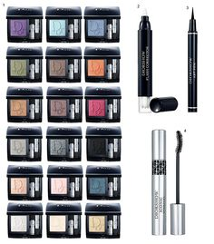 Maquiagem Dior Mono Eyeshadow Collection.