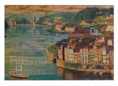 """Ribeira Porto"" - U006 Medium: silk screen  Subject: cityscape  Style: realism  Size: 70 x 50 cm  Price: €50  phone: (+351)962639443  email: franklim.barata@gmail.com"