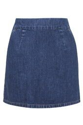 MOTO Vintage Wash A-Line Mini Skirt