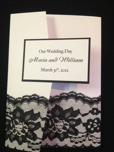 #Lace it up Wedding Invitation