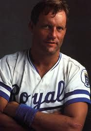 PINE TAR. It does a body good. George Brett, #5, Kansas City Royals.