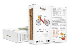 Packaging created by Peter Gregson and illustrated by Marijana Rot for Basket Snacks