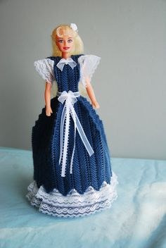 Fashion Doll Toilet Tissue Cover by countryiris on Etsy, $20.00