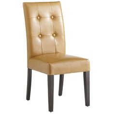 Leather Dining Chair - Camel, $120 on sale at Pier 1.