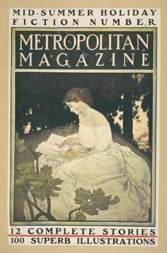 Metropolitan Magazine - Mid-summer holiday fiction number (1890's). NYPL Digital Gallery
