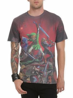 Nintendo The Legend Of Zelda: Ocarina Of Time Sublimation T-Shirt | #OoT #tattoo