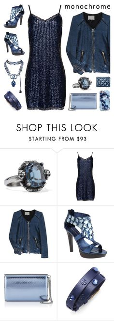 """""""Head To Toe Blue"""" by deepwinter ❤ liked on Polyvore featuring Alexander McQueen, Superdry, IRO, Jean-Michel Cazabat, Jimmy Choo, Tory Burch, Chanel and monochrome"""