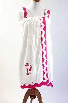 Personalized Towel Wrap, Bath Towel Wrap, Child's Bath