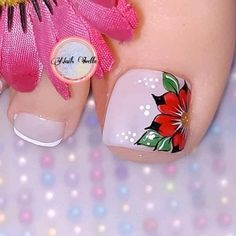 Acrylic Nail Designs, Nail Art Designs, Acrylic Nails, Cute Toes, Pretty Toes, Toe Nail Art, Toe Nails, Pedicure Designs, Nail Art Videos