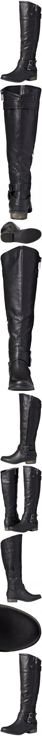 Rampage Women's Hansel Wide Calf Riding Boot, Black, 11 M US