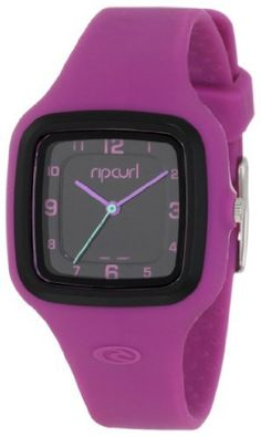 Rip Curl Women's A2550G-PUR  Analog Sport with Silicone Coating Watch Rip Curl. Save 33 Off!. $60.75. 316l stainless steel case. Water-resistant to 100 M (330 feet). Jeweled movement. Silicone case coating and strap. Quartz movement