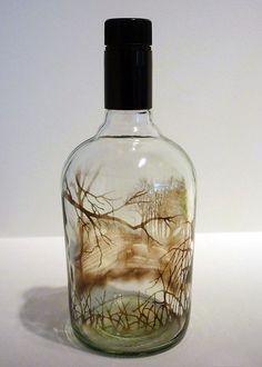 bouteilles peintes a la fumee par jim dangilian 6   Les bouteilles peintes à la fumée de Jim Dingilian   photo peinture Jim Dingilian image ...