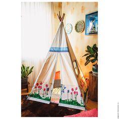 """Купить Детский домик - палатка вигвам """"Клевер"""" - Палатка, домик, вигвам, виг-вам, детский"""