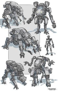 Cocept Mech in 2031 Arte Robot, Robot Art, Character Concept, Character Art, Character Design, Science Fiction, Arte Cyberpunk, Robots Characters, Arte Sketchbook