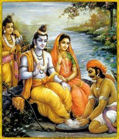 Image result for Sita Ram crossing the river