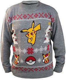 Pokemon Pikachu & Pokeball Christmas Sweater / Jumper