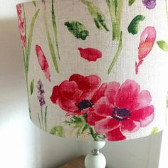 Floral linen lampshade £35.99