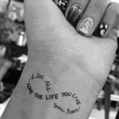 Cute tattoo - change the text to my girl's names