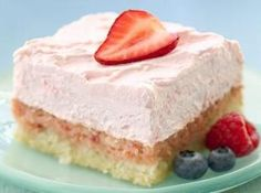 DIABETIC DESSERTS RECIPES IMAGES | DIABETIC-FRIENDLY EASY STRAWBERRY CREAM SQUARES Recipe | Just A Pinch ...