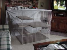 rabbit cage... this is great pic and example too
