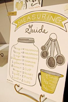 [ lovely + illustration + kitchen measuring guide + color palette + design ]  9th Letter Press - National Stationery Show 2013