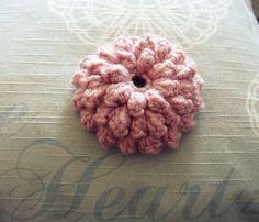 Crochet popcorn stitch flower